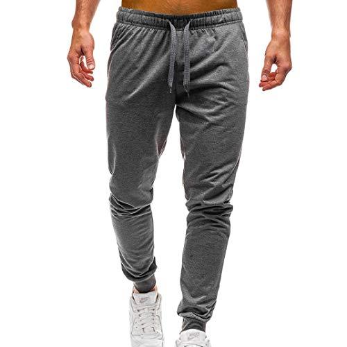 KPILP Herren Sweatpants Sporthose Jogginghose Trainingshose Jogging Jogger Freizeithose Fitnesshose Sport Fitness(Dunkel grau,XL)