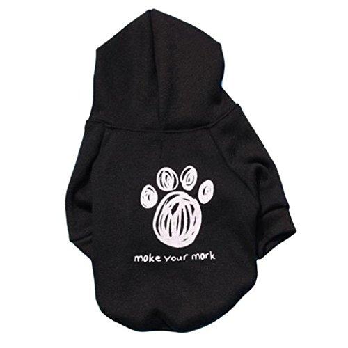 Loveso-Huastier Hunde Kleider Bekleidung Welpen warme weiche Mantel Overall Flanell-Kleidung (XS, (Box Für Welpen Kostüm)