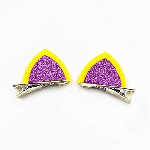 Purple Kitty Zubehör Set - TOUSHI Haar Zubehör 2 Teile/Los Hallo