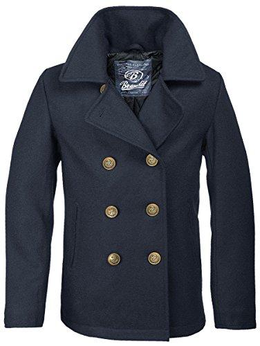 Brandit Giaccone da uomo, blu navy, stile forze armate tedesche Blau XXXXXL