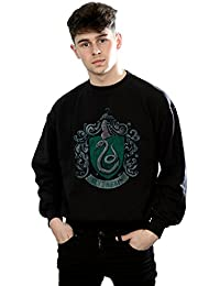 Harry Potter Hombre Slytherin Distressed Crest Camisa De Entrenamiento