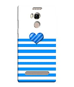 Gionee Elife E8 Back Cover Blue Heart On Blue Waves Design From FUSON