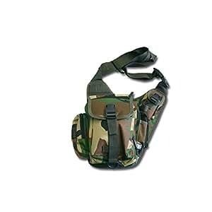 SCHULTER-UMHÄNGETASCHE Tasche Schultertasche Schulterumhängetasche Bag TOP Tarnfarbe, Woodland