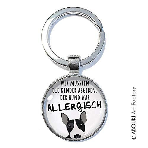 Allergischer Hund - ABOUKI | handgefertigter Schlüsselanhänger mit Spruch