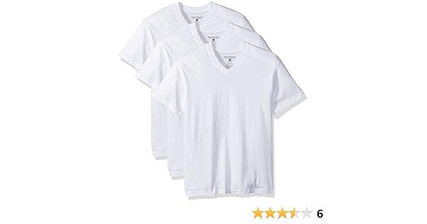 Nick Graham Mens 3-Pack Basic Cotton V-Neck Neck T-Shirt The Most Comfortable Undershirt Base Layer Top