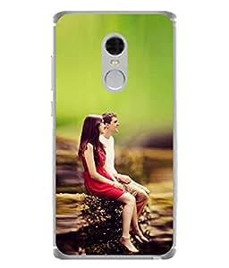 Snapdilla Designer Back Case Cover for Xiaomi Redmi Note 4 (2017 Edition) ( Women Man Light Nature Love Contrast Wallpaper)