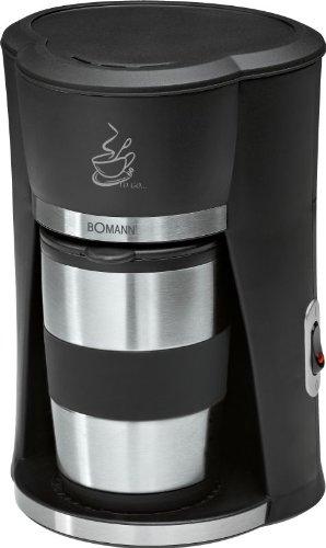 1-Tassen Kaffeemaschine Büro Kaffeeautomat für 1 Person Edelstahl Thermobecher (Coffee-to-go, Kaffeebecher, Isolierbecher mit Deckel, 300 ml)