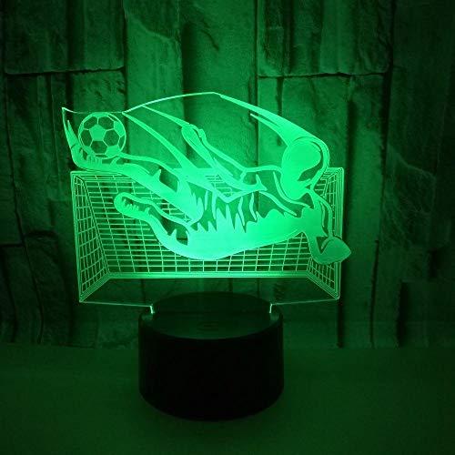 3D Illusion Nachtlampe Fußball Spielen Led 7 Farben Ändern Touch Control Nachtlicht Kinder Familie Dekoration Geburtstagsgeschenk