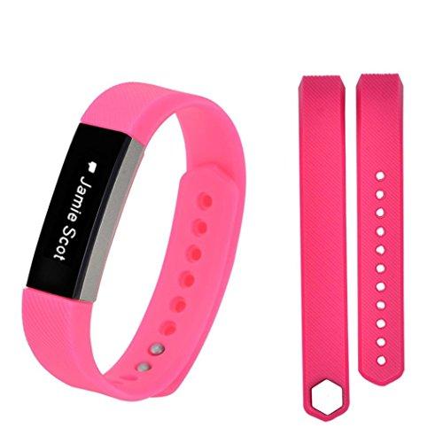 t Alta HR Smart Watch Qualität Silikon Armband Uhrenband mit Schnellverschluss Erstatzband Replacement Magnet Uhr Band Strap Uhrenarmband für Damen Herren (Rosa) ()