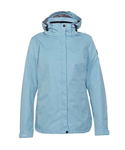 Michaelax-Fashion-Trade - Blouson - Gilet en maille - Uni - Manches Longues - Femme Bleu (00800)