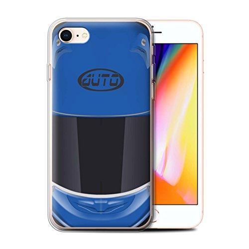 Coque Gel TPU de Stuff4 / Coque pour Apple iPhone 6/6S / Motocross/Rouge Design / Casque Moto Collection Superbike/Bleu
