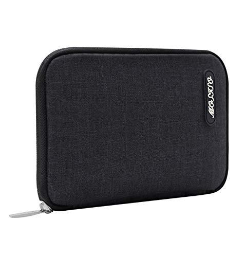 Laptop Travel Fällen (MOSISO Laptop Ladegerät Fall, tragbare Tragetasche Travel Storage Management Reißverschluss Tasche ärmel Tasche Kompatibel Notebook Tablette Netzteil/Maus/Cord/SSD/HDD Gehäuse, Grau)