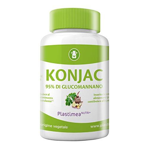 PURO KONJAC 500 mg: 90 capsule potenti per catturare grassi e zuccheri dosate con il 95% di glucomannano.