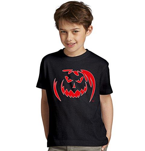 Süsses sonst gibts saures Kinder-Halloween-Fun-T-Shirt als Geschenke-Idee Motiv: Kürbis Farbe: schwarz Gr: (Masken Horror Gruseligsten)