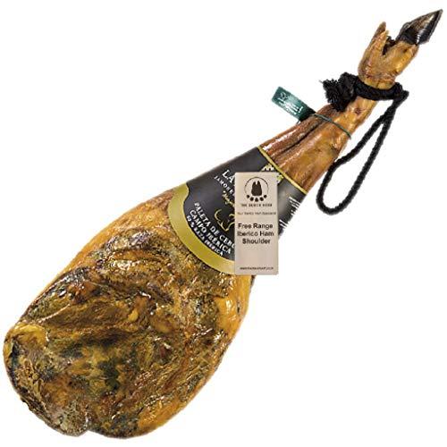 5 Kg+ Freilandhaltung Pata Negra Iberico Schinken aus Spanien - Ein echtes spanisches Gourmet-Erlebnis, das Sie mit Ihren Lieben teilen können - Spanischer Jamon Iberico Vorderschinken