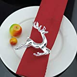 TianranRT Weihnachten Weihnachtsmann Claus Serviette Ring Weihnachten Baum Tisch Dekor Serviette Halter für Weihnachten Abendessen (Hirsch) - 6