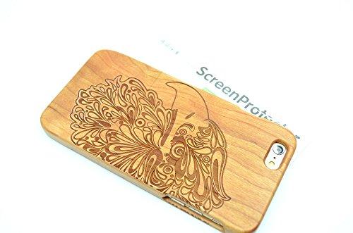 RoseFlower(TM) iPhone 6 Plus (5,5 Zoll (14 cm) Holzhülle - Kirschbaum-Maya - NatürlicheHandgemachteBambus / Holz Schutzhüllemit Kostenlose Displayschutzfolie für Ihr Smartphone Kirschbaum-Eagle