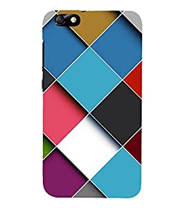 FUSON Cubes Background Multicolor Cube 3D Hard Polycarbonate Designer Back Case Cover for Huawei Honor 4X :: Huawei Glory Play 4X