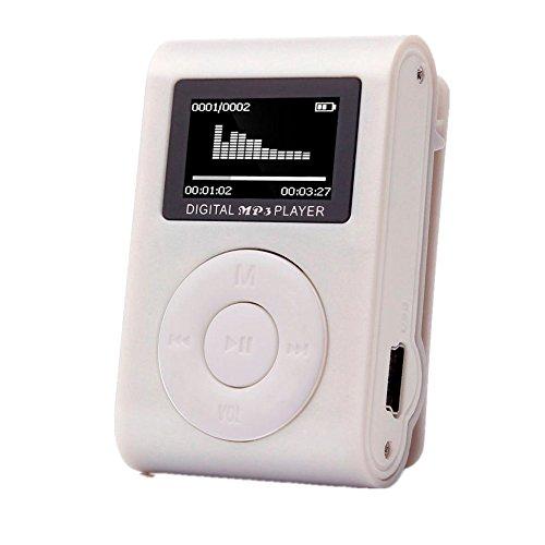 Amlaiworld Mini-LCD-Bildschirm Clip USB MP3-Player Casual Fitness Sport Elektronisch Geräte Lässig Urlaub Jogging Musik Player Classic Tragbare Audio Zubehör Unterstützt 32GB SD TF Karte (Silber)