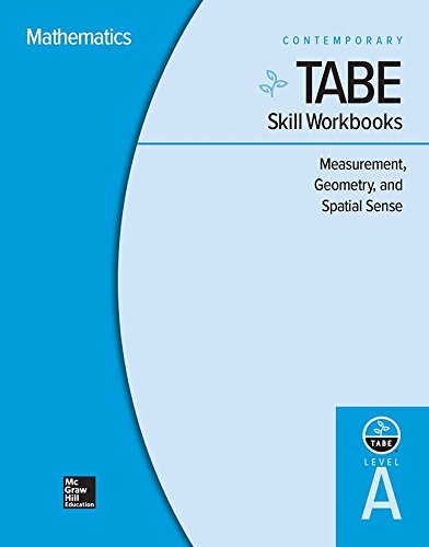 Tabe Skill Workbooks Level A: Measurement, Geometry, and Spatial Sense - 10 Pack (Achieving Tabe Success for Tabe 9 & 10)