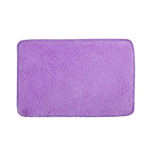 Preisvergleich Produktbild samLIKE Weiche flauschige Teppiche Anti-Rutsch-Shaggy Bereich Teppich Esszimmer Home Schlafzimmer Teppich Bodenmatte (Rosa)