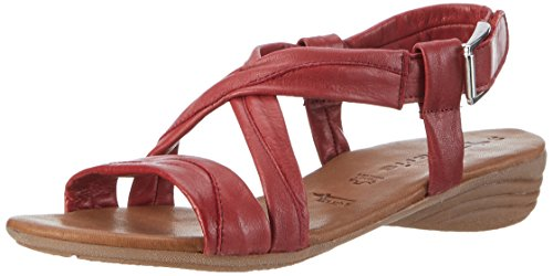 Tamaris 28130, Sandales Bout Ouvert Femme Rouge (Chili 533)