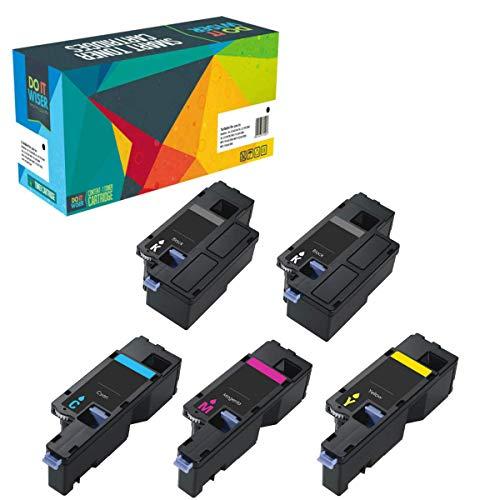 5 Do it Wiser Kompatibel Toner für Dell E525w   593-BBLN 593-BBLL 593-BBLZ 593-BBLV - Premium (Dell Abdeckung)