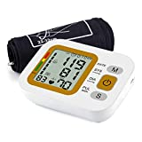 QAIYXM Electronic Sphygmomanometer, Home Upper Arm Type Automatic Arm Blood Pressure Measuring Instrument with LCD Digital Display for Health Monitoring