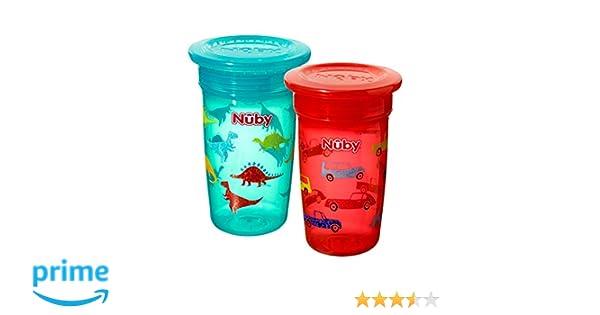 - Lot de 2 Tasse anti-d/ébordement Couleurs al/éatoires Nuby 360 /°