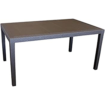 ultranatura aluminium glastisch korfu serie 150 x 96 x 73 cm. Black Bedroom Furniture Sets. Home Design Ideas