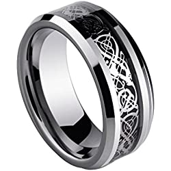 Sorella'z Black Dragon 316L Stainless Steel Ring for Men's