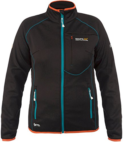 Regatta Abney Fleece veste pour femme black - blue - orange