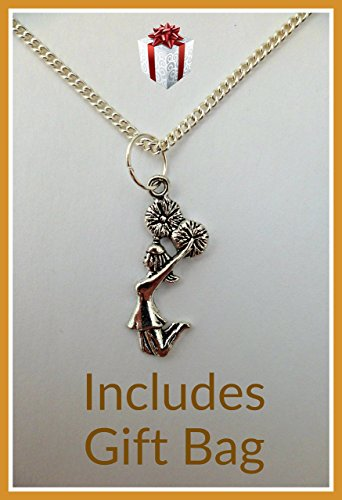 silver-necklace-sports-hobbies-cheerleader-pendant-gift-free-uk-postage-