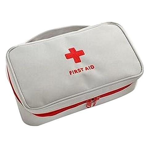qotone tragbar Tasche Erste Hilfe First Responder Aufbewahrungstasche leer Kit Bag Reise Sport grau