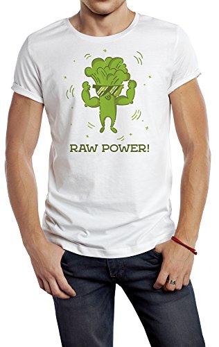 Brokkoli Mann T-Shirt Sport MÄNNER 180g. Premium Qualität Schnelltrocknung (L) (Weste Hippie Männliche)
