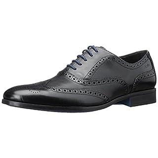 Clarks Banfield Limit, Herren Oxford Schnürhalbschuhe, Schwarz (Black Leather), 46 EU (11 Herren UK)
