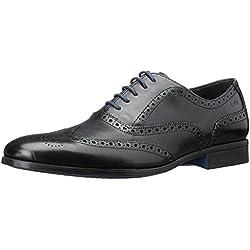 Clarks Banfield Limit - zapatos con cordones de cuero hombre, color negro, talla 46