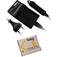 Troy-Batterie + Chargeur pour Sony DSC-W630, DSC-W710, W730, WX80, WX200, W730, DSC-W670, DSC-WX80 NP-BN1