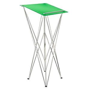 Spider Pult – Stehpult faltbar, leicht und stabil – Schreibpult mobil in verschiedenen Höhen und Farben – Aluminium und Acryl – Rednerpult (grün, Höhe 105 cm)