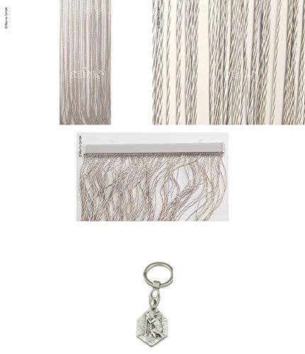 Preisvergleich Produktbild Arisol Türvorhang String,  100% PVC,  60x190cm,  beige / braun (932988952023) mit Anhänger Hlg. Christophorus