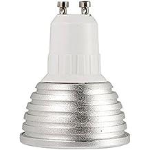 TOOGOO(R) RGB Top LED Bombilla Spot Light Changing Lamp Lampara Cambiante de Luz 16 Colors 5W GU10 + 24 Key Remote Controller