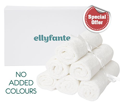 """Ellyfante UK Premium Bamboo Baby Washcloths Gift Set 