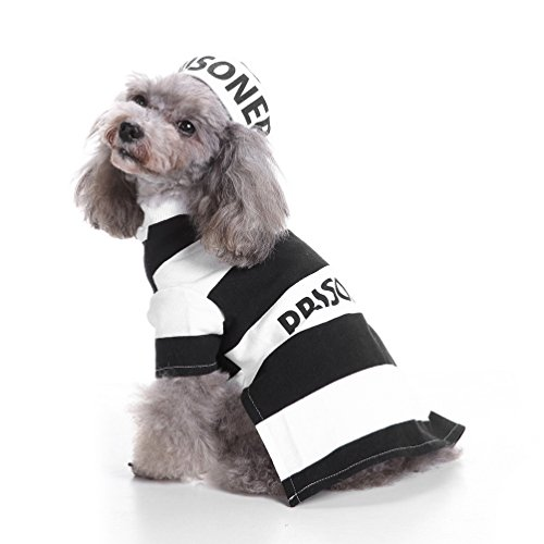 Gefangenen Kostüm Für Hunde - SELMAI Halloween Pet Puppy Gefangene Kostüm