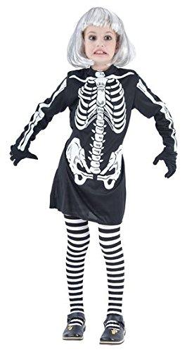 Ptit Clown P 'Tit Payaso-87396-Disfraz Niño Esqueleto Niña-Talla