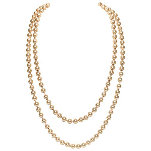 Retro Kostüm 1980 - BABEYOND Modische Imitation Perlen Kette Flapper Art Deco 1920s Gatsby Kostüm Accessoires 1980s Farbig Lange Perle Halskette 150 cm / 59