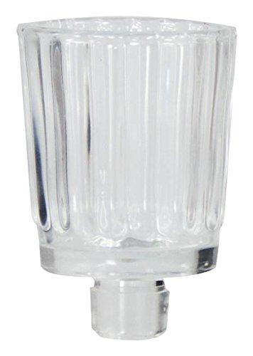 Wiedemann Teelichtaufsatz für Kerzenhalter Konische Kerzen Glas, Wachs, Farblos, 8 x 6 cm, 6-Einheiten