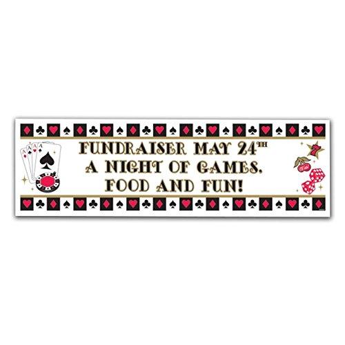 personalisierbar Casino Poker Banner Geburtstag Party Thema Karte Karten Nacht GIANT ZEICHEN Dekoration Neue Jahre Party neuen Bond Party Thema Buchstaben Zahlen Personalisieren Sie sich