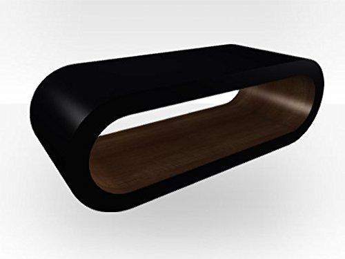 Esterno nero a cerchio ampio Tavolino da caffè noce (Noce Ovale Tavolino)