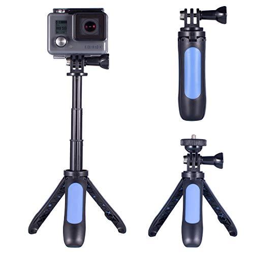 Mini Stativ für GoPro, Homeet 2-in-1 Mini Kamera Stativ Klein Stativ und Selfie Stick für GoPro/SJCAM/Akaso/Garmin Virb/DBPOWER/YI/QUMOX/Rollei/Apemen Action Kameras