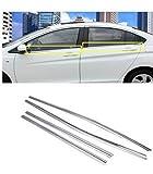 #6: Premium Quality Car Lower Window Chrome Garnish / Chrome Window Garnish Molding for Hyundai Verna Fludic